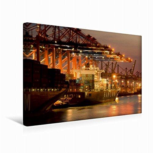 leinwand-hanjin-containerschiff-45x30cm-special-edition-wandbild-bild-auf-keilrahmen-fertigbild-auf-