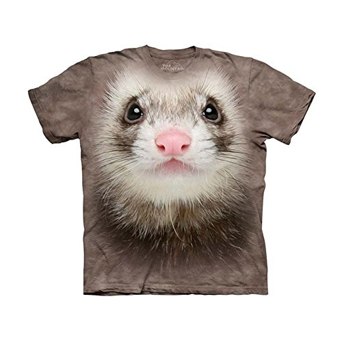 The Mountain Kids Ferret Face T-Shirt, X-Large, Brown (Ferret Clothing compare prices)
