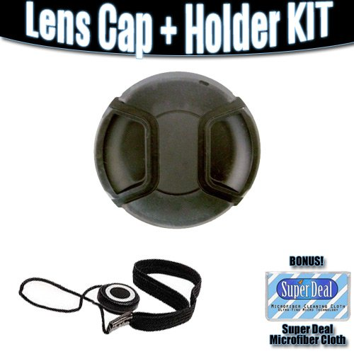 Deluxe Snap On Lens Cap 67mm + Lens Cap Keeper For The Nikon D7000 Digital SLR Camera with 18-105mm Lens (Includes FREE Super Deal Microfiber Cleaning cloth)