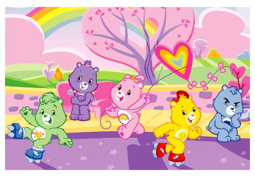 Roule Care Bears Collection Happy Fun Day 39X58 Inch Kids Area Rugs