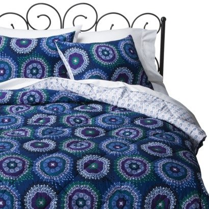 Xhilaration Medallion Reversible Comforter Set - Blue Twin/Xl Twin front-155379