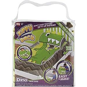 Techno Source 12616 Zippy Sack Dino Twin Size Amazon In
