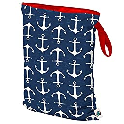 Planet Wise Wet Diaper Tote Bag, Overboard Twill, Large