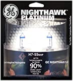 GE H7-55NHP/BP2 Nighthawk PLATINUM Headlight Bulbs, Pack of 2