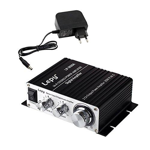 LEPY LP-2020A Hi-Fi Audio Mini di amplificazione Digital Hi-Fi per auto e alimentazione --Nero
