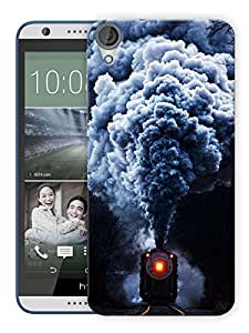"Humor Gang Steam Train Printed Designer Mobile Back Cover For ""HTC DESIRE 820"" (3D, Matte, Premium Quality Snap On Case)"