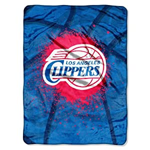 NBA Los Angeles Clippers Shadow Play Royal Plush Raschel Throw Blanket, 60x80-Inch by Northwest
