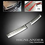 Stainless steel rear bumper door sill plate ins for 2012 2013 toyota highlander