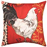 La Provence Roosters Indoor/Outdoor Weather Resistant Fabric Pillows (Set of two 18 inch)