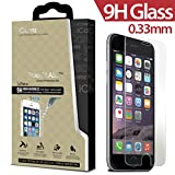 iPhone 6 4.7 inch screen protector iCarez® [ Tempered Glass ] Highest Quality Premium Anti-Scratch Bubble-free Reduce Fingerprint No Rainbow Washable Screen Protector Easy Install Product [1-Pack,0.33mm] - Retail Packaging 2014
