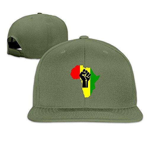 QWERT Unisex Black Power Fist Pan Africa Flat Billed Cap Baseball-caps 1 Size ColorKey (Power Rangers Flag compare prices)