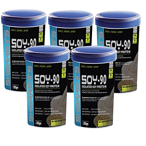 SHARRETS NUTRITIONS - ISOLATED SOY PROTEIN 90% ( VALUE PACK OF 5)