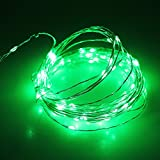 JiaMao Fashionable Romantic Waterproof 10 Meters 5V 100 LED Fairy USB Sliver String Lights Decorative Stripes for Christmas Home Holidays Halloween Party Wedding (Green)