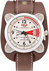 Timex Helix Maverick Analog Off-White Dial Men's Watch - 04HG00
