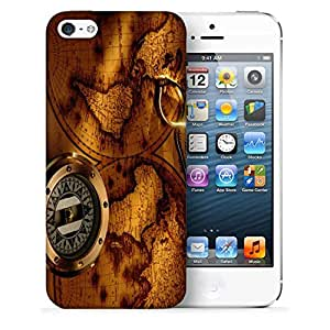 Snoogg World Compass Designer Protective Back Case Cover For IPHONE 5