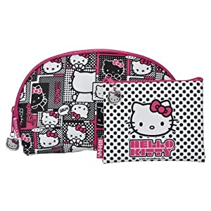 Hello Kitty Cosmetic Bag - Pink 2 Piece Set from Added Extras
