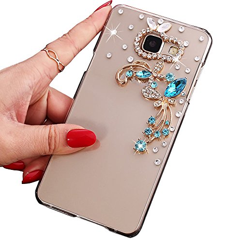 Coque Galaxy A3 (2016), Sunroyal® Transparente Bling 3D Luxe Diamant Strass Etui Housse Ultra Slim Hard PC Plastique Case Cover Clear Portable