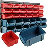 30pc Storage Bin Kit Wall Mounted Garage, Warehouse Tools, Parts Rack Board