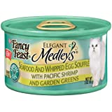 Fancy Feast Elegant Medleys Seafood And Whipped Egg Souffle, 3-Ounce Cans (Pack of 24) ~ Fancy Feast