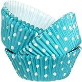 Wilton Blue Dots Baking Cups, 75 Count