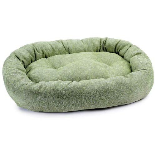 Slumber Pet Polyester Deluxe Chenille Dog Bed, Medium, Sage front-906906
