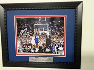 Mario Chalmers Autographed Kansas Jayhawks Framed 8x10 Signed Photo THE SHOT - JSA... by Powers+Collectibles