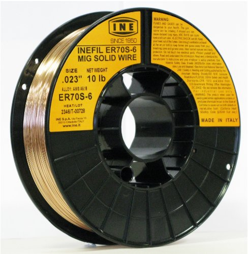 INEFIL ER70S-6 .023-Inch on 10-Pound Spool Carbon Steel Mig Solid Welding Wire