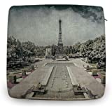 "Decorshow Eiffel Tower Chair Cushions, Vintage Chair Pad, Cotton and Linen Dining Chair Pad 18"" X 18"""