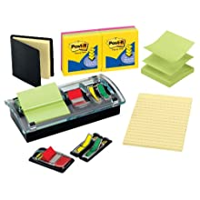 Post-it Pop-up Notes and Flag Dispenser Starter Kit, Assorted Colors and Sizes