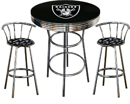 where can you buy oakland raiders logo themed 3 piece chrome metal