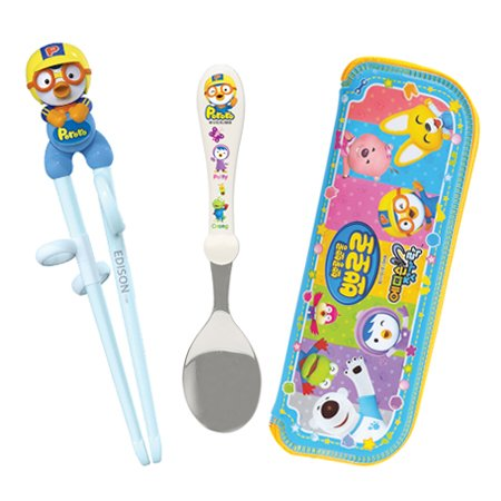 Children Cheater Training Chopsticks & Spoon set Penguin - 1