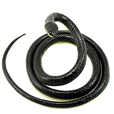 Realistic Rubber Black Mamba Snake Toy 52 Inch Long by JAYP