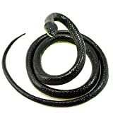 Paialco Realistic Rubber Black Mamba Snake Toy 52 Inch Long