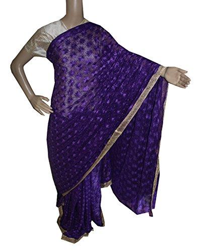 Beautiful RUDA Designer Phulkari Embroidered Saree-JS1127