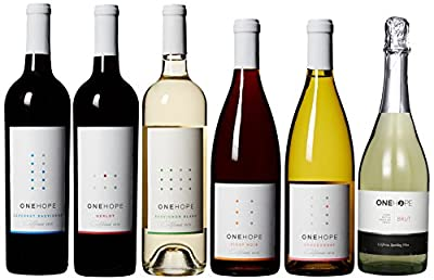 ONEHOPE Best of California II Wine Mixed Pack, Includes California Merlot, Pinot Noir, Sauvignon Blanc, Brut Champagne, California Chardonnay, Cabernet Sauvignon, 6 x 750 mL by ONEHOPE