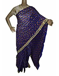 Beautiful RUDA Designer Phulkari Embroidered Saree-JS1096