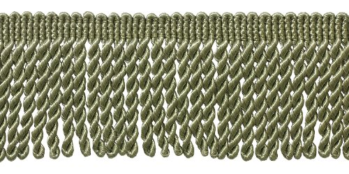 2.5 Inch Bullion Fringe Trim, Style# EF25 Color: SAGE - L83, Sold By the Yard