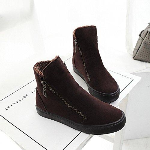 GGH Signore lavoro confortevole slittamento sui fannulloni delle donne scarpe casual Brown,38