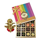 Chocholik Belgium Chocolates - Signature Collection Of Truffles Gift Box With Ganesha Idol - Diwali Gifts