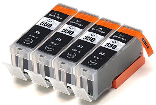 4 x Tintenpatronen mit Chip kompatibel zu Canon Canon 550, Canon 551 PGI-550PGBK, PGI-550XLPGBK, CLI-551BK, CLI-551XLBK, CLI-551C, CLI-551XLC, CLI-551M, CLI-551XLM. Für Pixma iP7250, Pixma iX6850, Pixma MG5450, Pixma MG5550, Pixma MG6450, Pixma MX725, Pixma MX925 KEIN ORIGINAL von S1 Ink and Toner