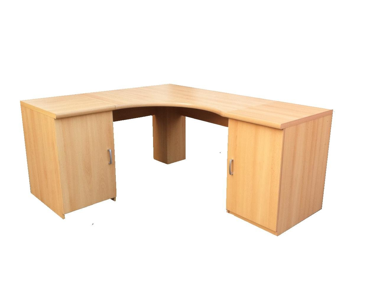Morgan Beech Large Corner Computer Desk Office Table Option 6   UK ONLY       Customer review and more information