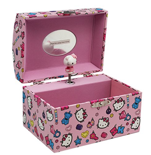 Hello-Kitty-Light-Pink-Ice-Cream-and-Candy-Themed-Musical-Jewelry-Box