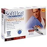 SoftHeat Heating Pad, Moist or Dry, King Size Deluxe 1 pad
