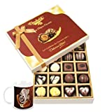 Chocholik Belgium Chocolates - 20pc Milk And White Chocolate Treat With Diwali Special Coffee Mug - Diwali Gifts