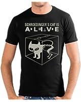 Touchlines Herren Slimfit T-Shirt - Schroedingers Cat Is Alive