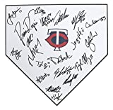 Minnesota Twins 2017 Team Autographed Signed Baseball Home Plate Mauer Dozier Berrios Polanco
