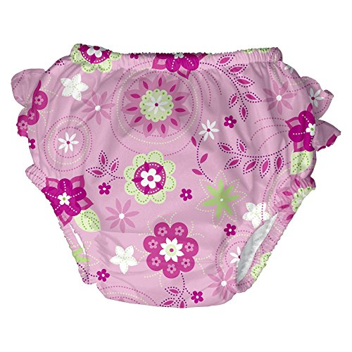 I Play baby Girls' Floral Swim Diaper (3-6 Months)