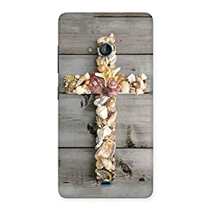 Devine Sea Cross Back Case Cover for Lumia 540