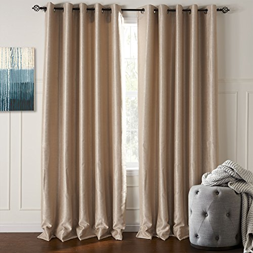 Lightinthebox (One Panel) Modern Classic Solid Embossed Blackout Curtain Window Curtains Panels front-878374