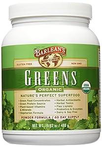 Barlean's Organic Oils Barlean's Greens, 16.93-Ounce Jar